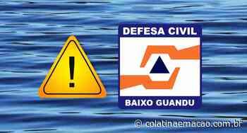 Defesa Civil de Baixo Guandu-ES, alerta para elevação do rio Doce na região - Colatina em Ação