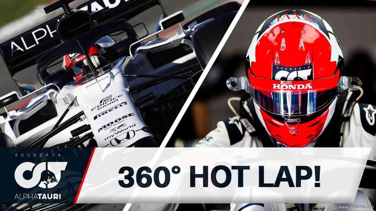 360° FORMULA 1 HOT LAP - DANIIL KVYAT | Circuit de Catalunya