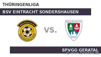 BSV Eintracht Sondershausen gegen SpVgg Geratal: Heimstärke gegen Auswärtsfluch - t-online.de