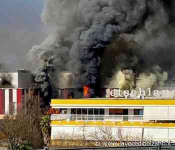 Incendio al salumificio Pfitscher di Postal: vigili del fuoco in azione - La Voce di Bolzano