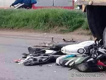 En Soracá, Boyacá, motero quedó con un pie en la tumba | HSB Noticias - HSB Noticias