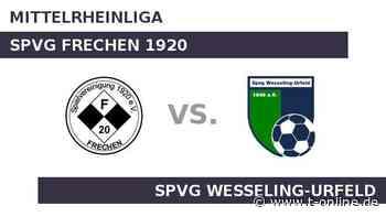 SPVG FRECHEN 1920 gegen Spvg Wesseling-Urfeld: Wesseling will Trend fortsetzen - t-online.de