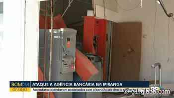 Ladrões explodem agência bancária, em Ipiranga - G1