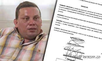 Tribunal revocó suspensión del alcalde de San Andrés de Sotavento - LA RAZÓN.CO