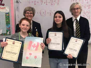 Dubreuilville students win Legion Remembrance Day competition - Wawa-news.com