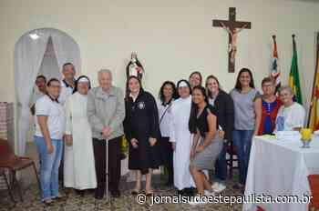 Riversul recebe imagem de Santa Catarina doada pelo Profº João Castilho - Jornal Sudoeste Paulista