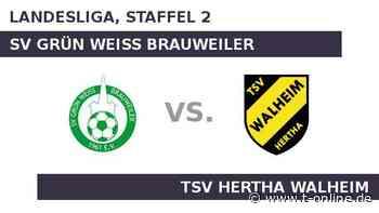 SV Grün Weiss Brauweiler gegen TSV Hertha Walheim: Heimstärke gegen Auswärtsfluch - t-online.de