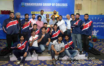 CGC Overpowered others during IKGPTU Inter College weightlifting, powerlifting and best ph - 5 Dariya News