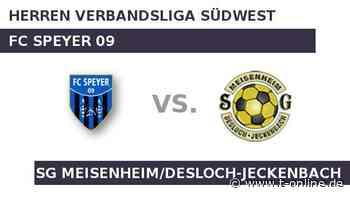 FC Speyer 09 gegen SG Meisenheim/Desloch-Jeckenbach: Wer hat im Verfolgerduell die Nase vorn? - t-online.de