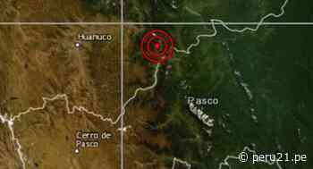 Sismo de magnitud 4,1 se registró en Oxapampa esta madrugada - Diario Perú21