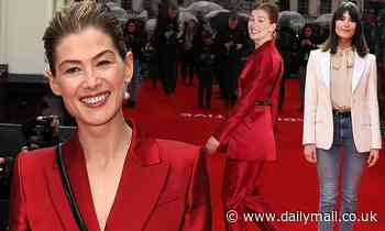 Rosamund Pike joins chic Gemma Arterton at the UK premiere of Radioactive - Daily Mail