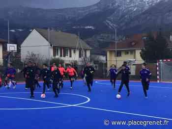 Inauguration d'un nouveau terrain de futsal à Echirolles - Place Gre'net