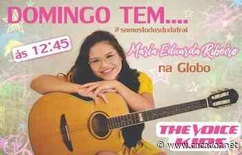 Música: Maria Eduarda, de Fraiburgo, participa do The Voice Kids neste domingo - Caçador Online