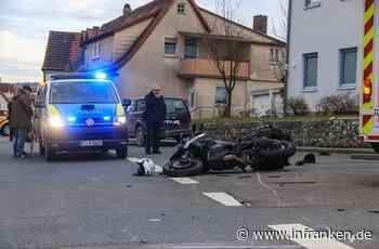 Bad Staffelstein: Autofahrerin übersieht Motorrad - Biker schwer am Bein verletzt - inFranken.de