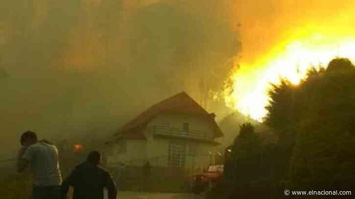 Llamas de 30 metros continúan afectando la Colonia Tovar - El Nacional