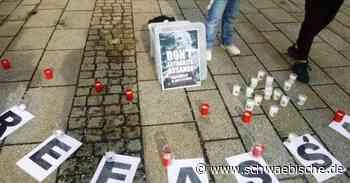 Mahnwache für Julian Assange und die Pressefreiheit - Schwäbische