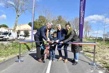 Montpellier-Cournonterral : la piste cyclable inaugurée - actu.fr