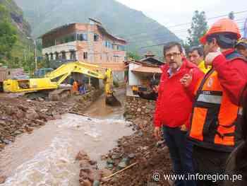 Buscan contener emergencia y recuperar zona afectada por desborde en Pisac - INFOREGION
