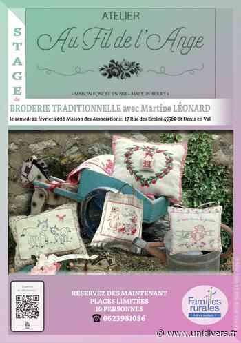 Stage de Broderie Traditionnelle Maison des associations Saint-Denis-en-Val 22 février 2020 - Unidivers