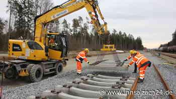 Gleiserweiterung am Chemiepark: Schienenverlegung erfolgt planmäßig - innsalzach24.de