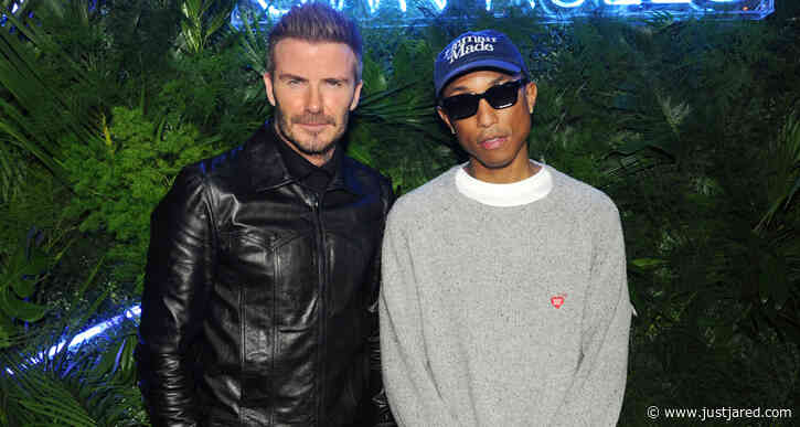David Beckham Gets Support from Pharrell Williams at Haig Club Party in Miami!