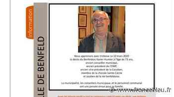 Bas-Rhin : un ancien élu de Benfeld est décédé, testé positif au coronavirus après sa mort - France Bleu