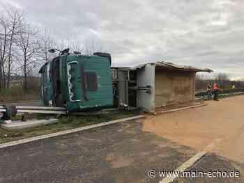 Unfall mit zwei Lastern auf B469 bei Anschlussstelle Großwallstadt und Niedernberg - Main-Echo