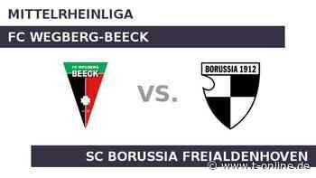 FC Wegberg-Beeck gegen SC Borussia Freialdenhoven: Greift Freialdenhoven bei Beeck nach den Sternen? - t-online.de