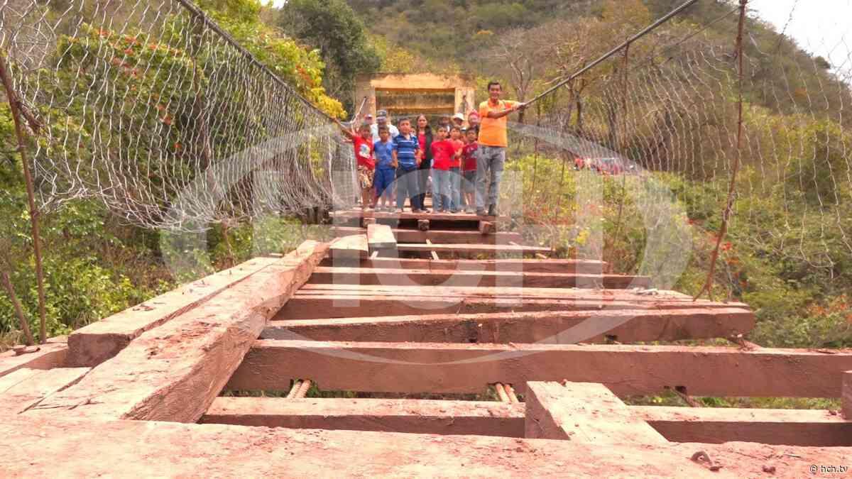¡Incomunicados! más de 5 mil pobladores de Lepaera, Lempira al colapsar puente de hamaca - hch.tv