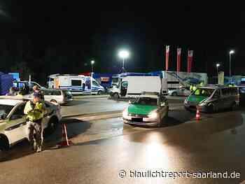 Großkontrolle von Autobahnpolizei und Zoll auf der A6 bei Waldmohr - blaulichtreport-saarland.de