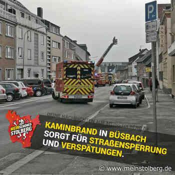 Konrad Adenauer Straße wegen Kaminbrand komplett gesperrt - Mein Stolberg