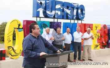 Inauguran instalación de letras escultóricas de Puerto Adolfo López Mateos - El Sudcaliforniano