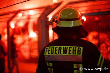 Feuerwehr Uhingen: Funken entzünden Holzspäne - SWP
