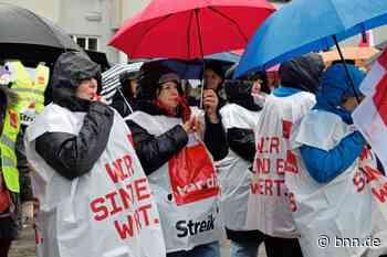SRH-Gesundheitszentren: 180 Menschen streiken in Waldbronn für fairere Löhne - BNN - Badische Neueste Nachrichten
