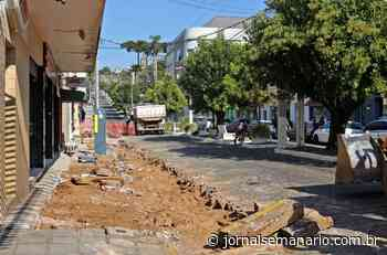 Garibaldi: Iniciam obras de revitalização na rua Júlio de Castilhos - jornalsemanario.com.br