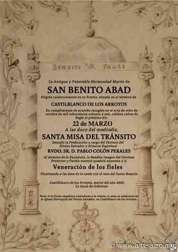 Provincia. La Hermandad Matriz de San Benito Abad de Castilblanco de los Arroyos estrena Orla de Cultos - Arte Sacro