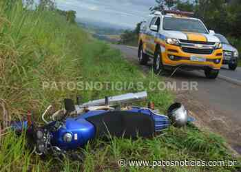 Motociclista fica gravemente ferido em acidente na BR-354 entre Lagoa Formosa e Patos de Minas - Patos Notícias