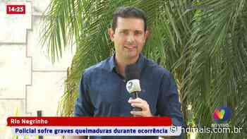 Policial sofre graves queimaduras durante ocorrência em Rio Negrinho - ND - Notícias