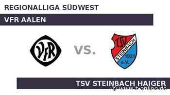VfR Aalen gegen TSV Steinbach Haiger: TSV Steinbach Haiger in der Fremde eine Macht - t-online.de