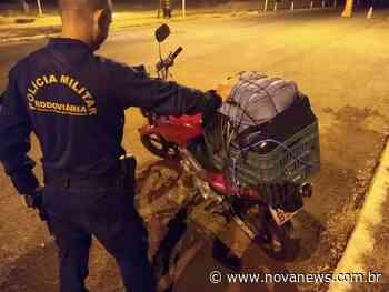 Ivinhema - PMR prende homem com tornozeleira eletrônica transportando 48 kg de maconha em moto - Nova News