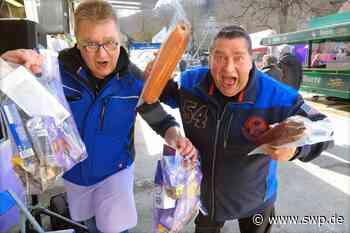 Markt in Blaubeuren: Marktschreier ermitteln den Besten unter sich - SWP