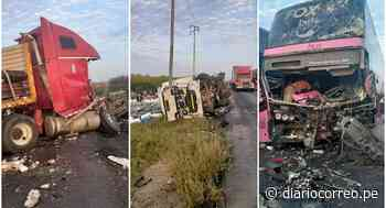 Triple choque deja 15 heridos en Paiján (FOTOS) - Diario Correo