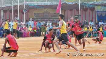Inter-Collegiate Mysuru Zone Kho-Kho Men's Championship-2020 on Mar. 14 - Star of Mysore