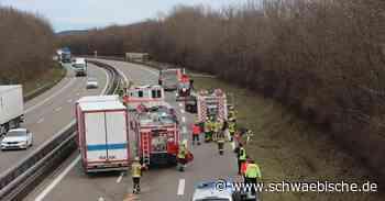 Vier Verletzte nach Verkehrsunfall auf der A96 - Schwäbische