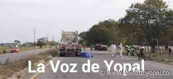 Joven fallece en accidente de tránsito registrado en la vía Morichal de Yopal - Noticias de casanare - La Voz De Yopal