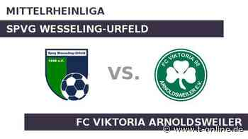 Spvg Wesseling-Urfeld gegen FC Viktoria Arnoldsweiler: Wesseling in guter Form - t-online.de