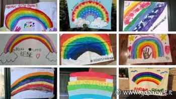 Cornuda, iniziative di intrattenimento per i bambini, disegni sulle terrazze di casa con la scritta #andràtuttobene - Qdpnews.it - notizie online dell'Alta Marca Trevigiana