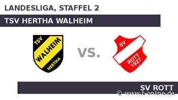TSV Hertha Walheim gegen SV Rott: Rott will oben dranbleiben - t-online.de