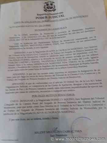 Tribunal Montecristi asigna jueza conocerá recurso contra Alcalde Pepillo Salcedo sobre información pública - Montecristinews
