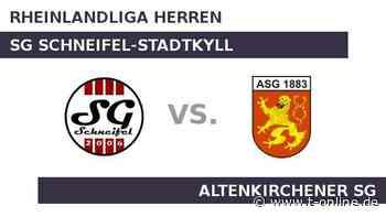 SG Schneifel-Stadtkyll gegen Altenkirchener SG: Bei Schneifel-Stadtkyll hängen die Trauben hoch - t-online.de